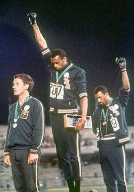 Olimpiadi 1968 Pugno Chiuso atleti neri