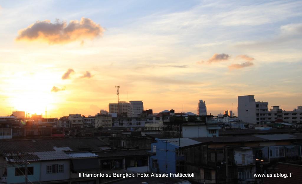 bangkok thailandia tramonto foto