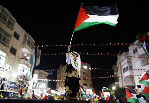 Bambino bandiera Palestina