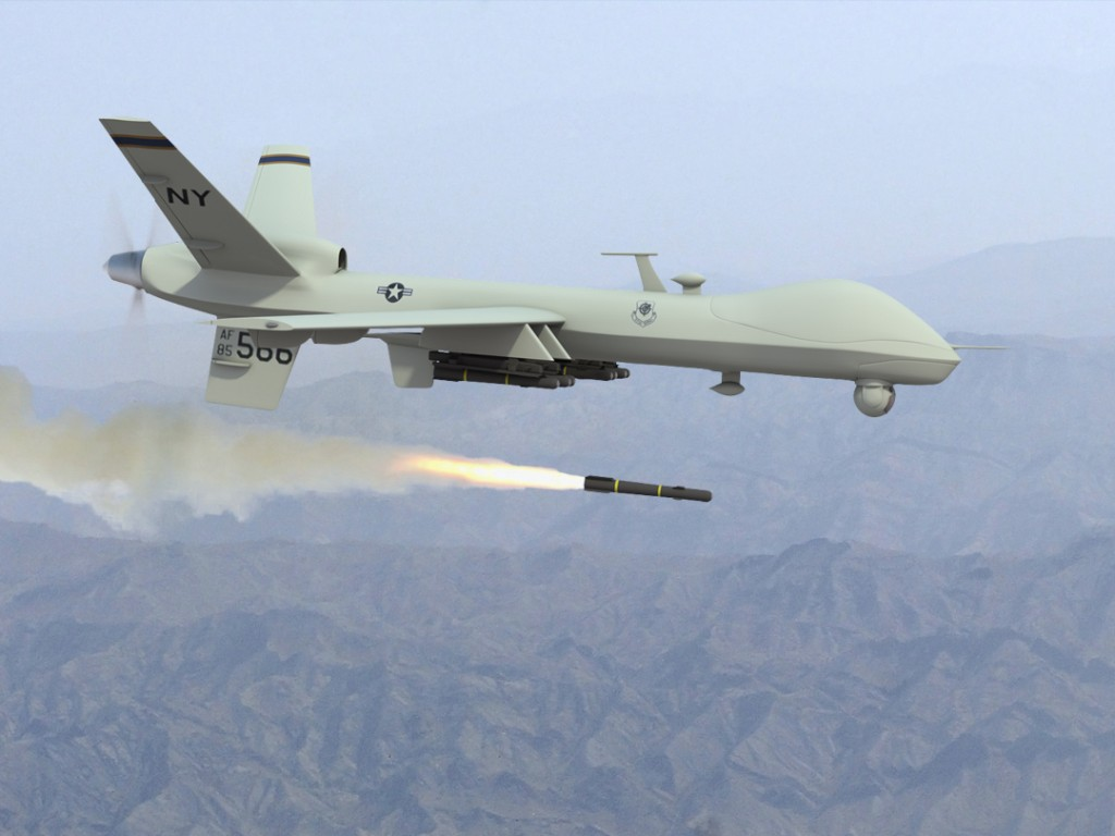 predator firing missile4 1024x768 Obama festeggia bombardando lo Yemen