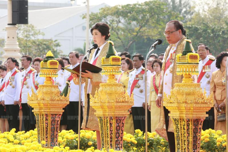 thailandia Yingluck Shinawatra Ananta Samakhom Throne Hall