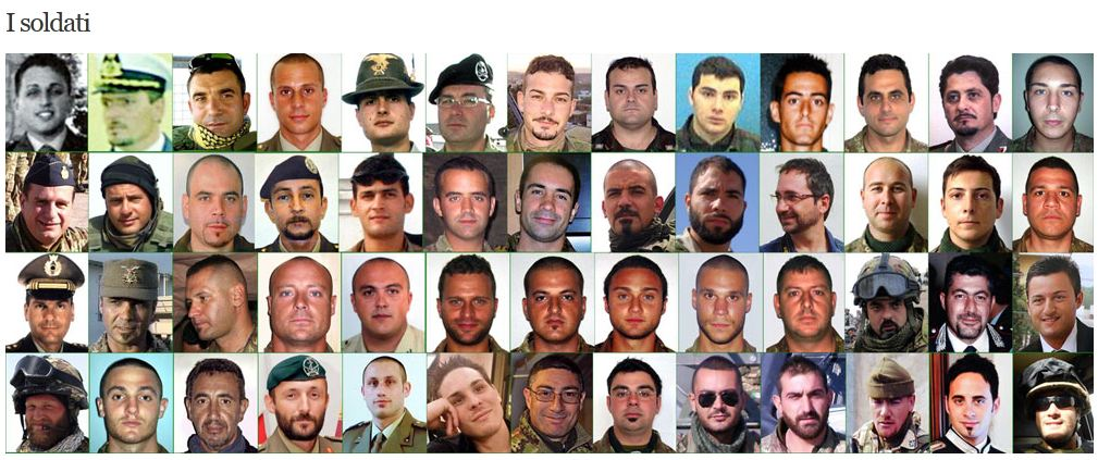 afghanistan soldati morti