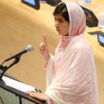 Malala Yousafzai, discorso alle Nazioni Unite. Foto JUSTIN LANE/EPA