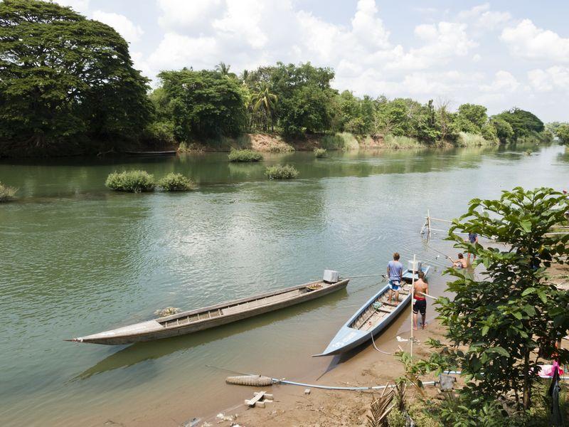 Il Fiume Mekong. Laos Thailandia Asia