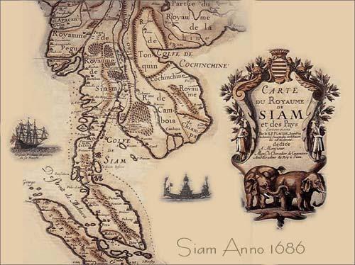 siam history map Una mappa della Thailandia