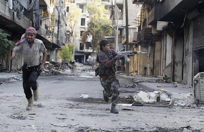 siria bambini soldati guerra