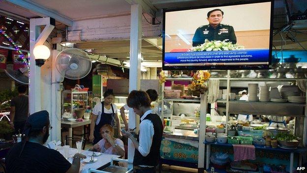 Thai coup Cartolina dalla Thailandia
