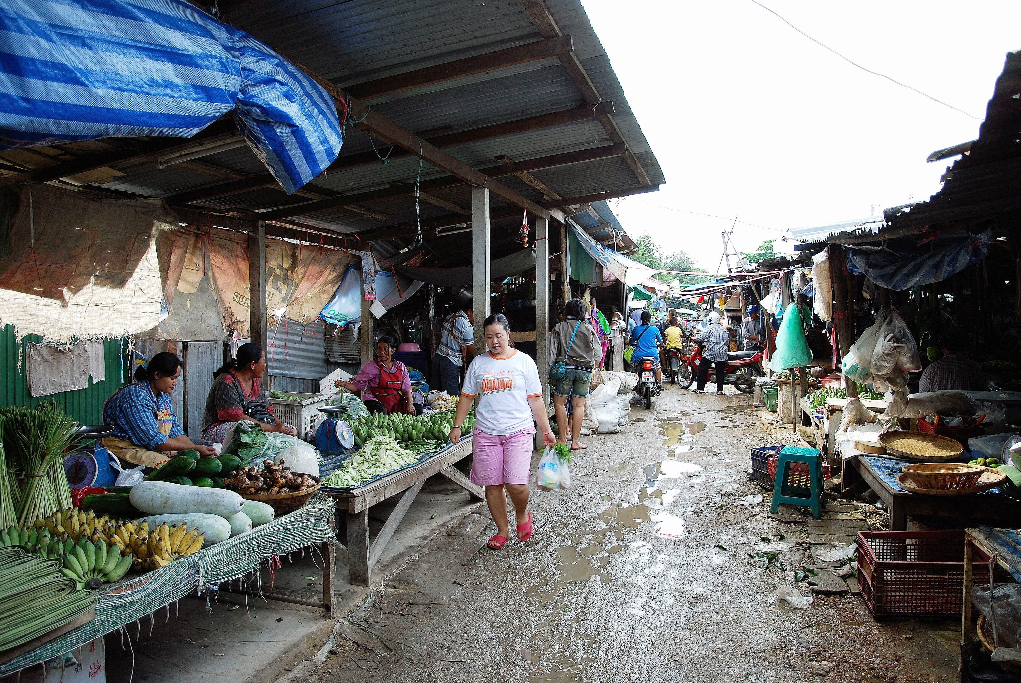 mercato La Thailandia e gli oggetti misteriosi