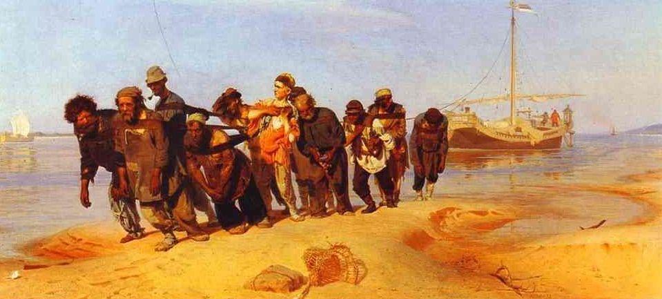 Ilya Repin. Barge Haulers on the Volga. 1870 1873 La poesia del viaggiatore