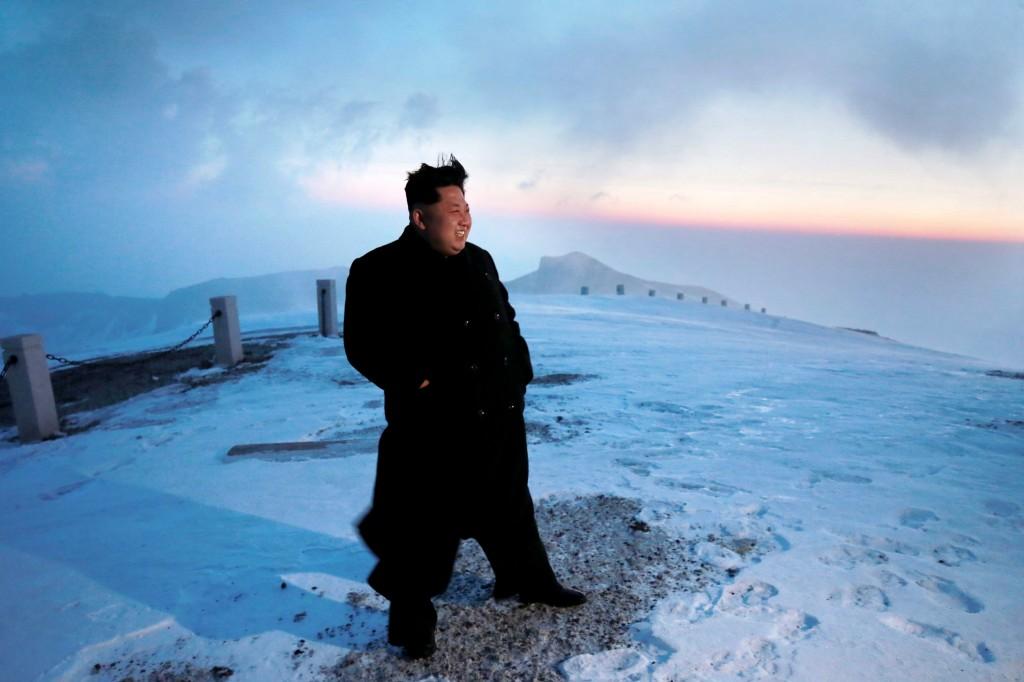 Kim Jong-un Corea del Nord montagna