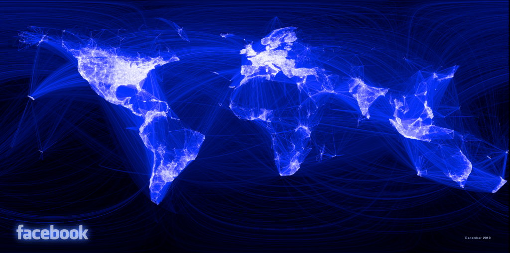 facebook map connections