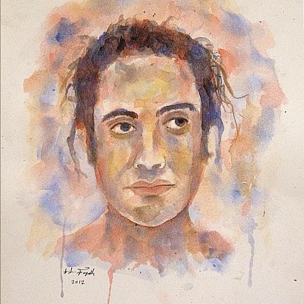 Quello che sembra essere un autoritratto di Ashraf Fayadh. Foto: Ashraf Fayadh