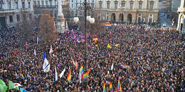 Manifestazione a favore delle Unioni Civili