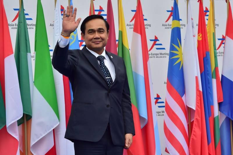Prayut Chan-o-cha, Primo ministro thailandese, al vertice Asem – Milano, ottobre 2014 (Afp)