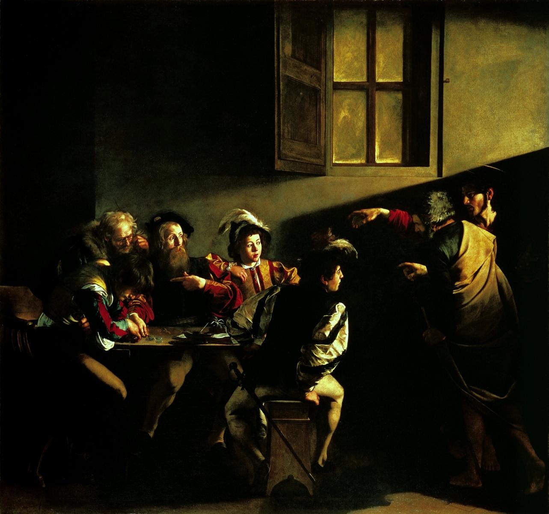 Vocazione di San Matteo, Caravaggio