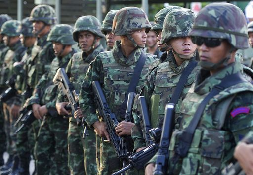 Thai soldiers AFP PHOTO / PORNCHAI KITTIWONGSAKUL
