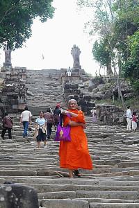 La prima scalinata d'accesso a Preah Vihear
