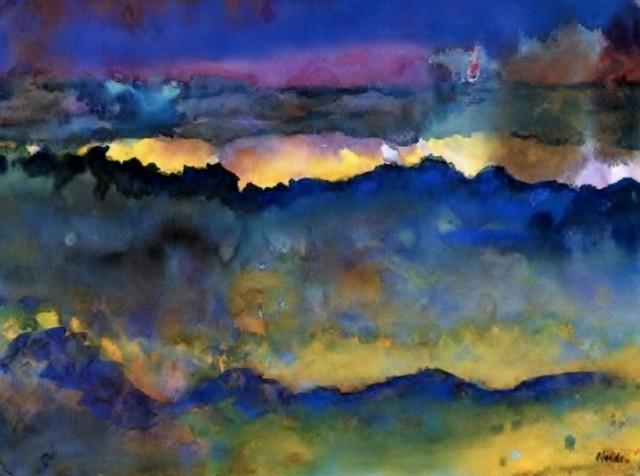 quadro Oceano Emil Nolde