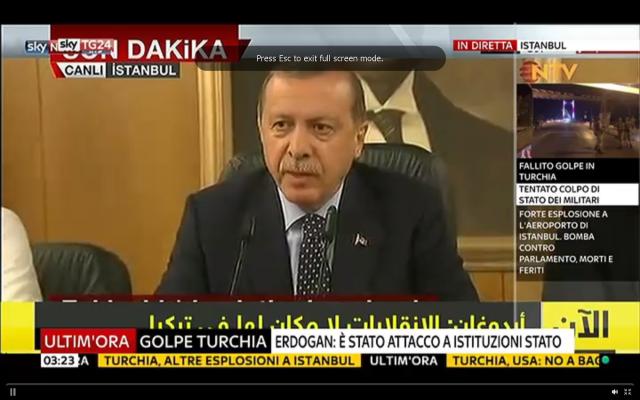 turchia erdogan discorso diretta golpe