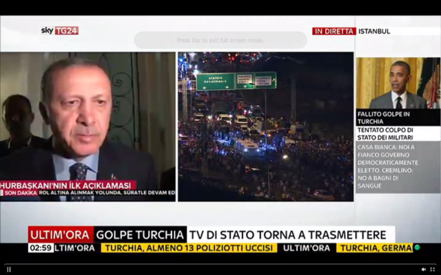 Erdogan Turkey coup video