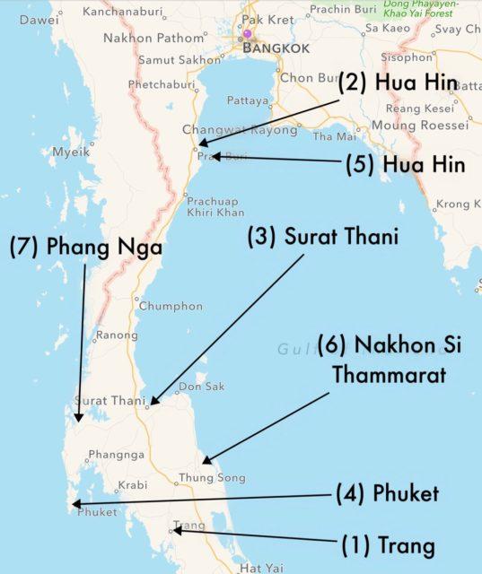 bombe in thailandia hua hin phuket
