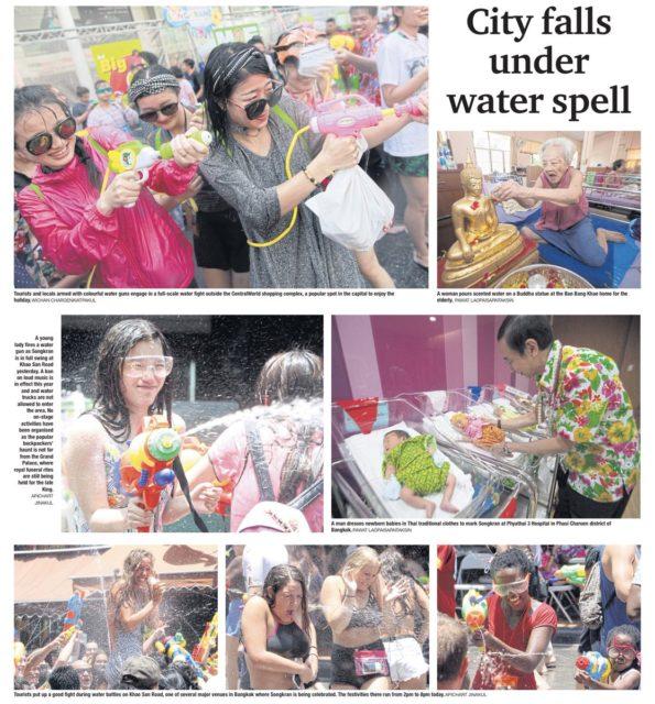 Il festival del Songkran in Thailandia. Foto Bangkok Post