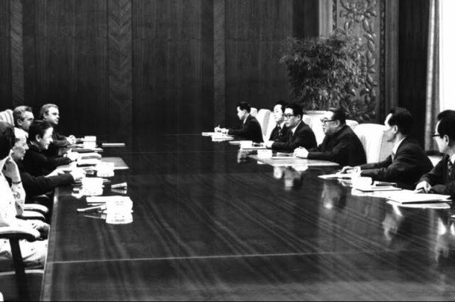 Enrico Berlinguer e Kim Il-sung a Pyongyang, 23 Aprile 1980